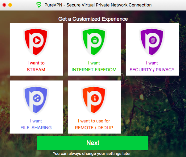purevpn review setup 3