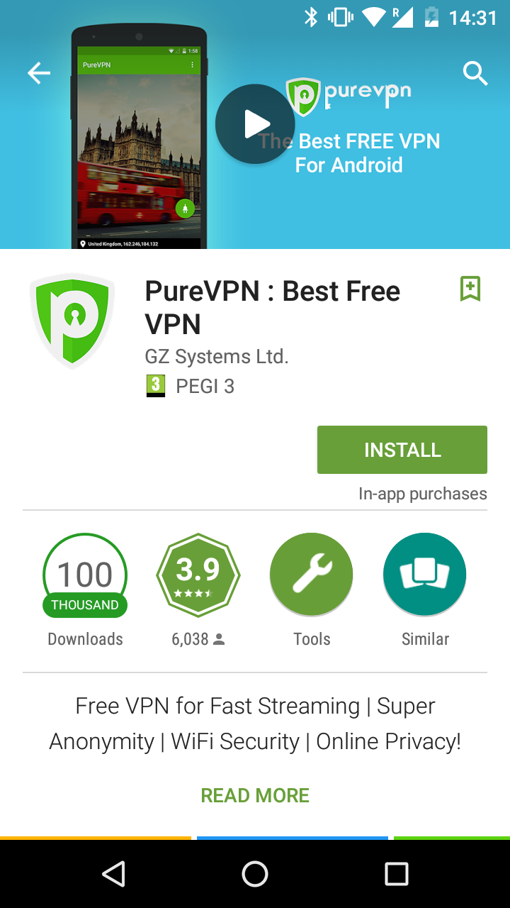 purevpn review app 1