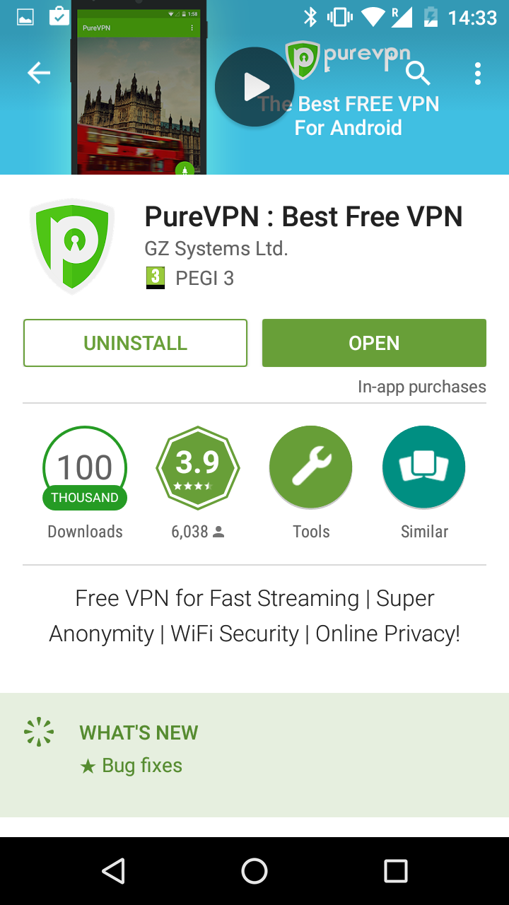 purevpn review app 3